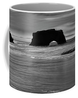Natural Bridges State Beach Water B/w Coffee Mug