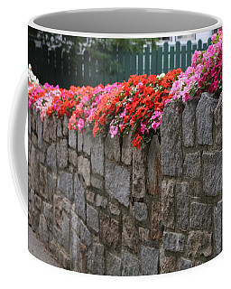 Natural Floral Wall 2 Coffee Mug by Living Color Photography Lorraine Lynch
