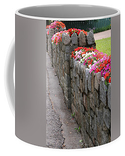 Natural Floral Wall 3 Coffee Mug by Living Color Photography Lorraine Lynch