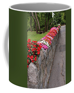 Natural Floral Wall 4 Coffee Mug by Living Color Photography Lorraine Lynch