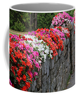 Coffee Mug featuring the photograph Natural Floral Wall by Living Color Photography Lorraine Lynch