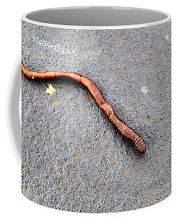 Coffee Mug featuring the photograph Naturally Bronzed Earthworm by Robert Knight