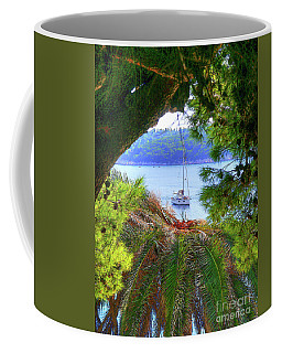 Nature Framed Boat Coffee Mug