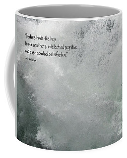 Coffee Mug featuring the photograph Nature Holds The Key by Peggy Hughes