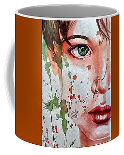 Coffee Mug featuring the painting Nature's Child  by Michal Madison