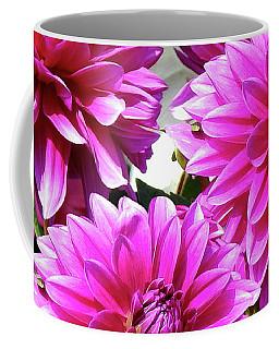 Natures Perfume Dahlias Red Tones Coffee Mug