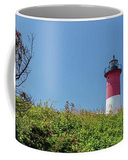 Nauset Lighthouse With Daisies Cape Cod Coffee Mug