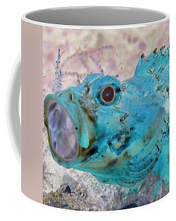 Coffee Mug featuring the photograph Nautical Beach And Fish #1 by Debra and Dave Vanderlaan
