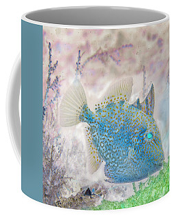Coffee Mug featuring the photograph Nautical Beach And Fish #2 by Debra and Dave Vanderlaan