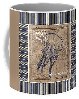 Nautical Stripes Jellyfish Coffee Mug