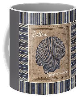Nautical Stripes Scallop Coffee Mug