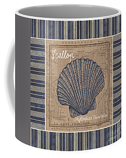 Nautical Stripes Scallop Coffee Mug