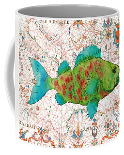 Coffee Mug featuring the painting Nautical Treasures-a by Jean Plout