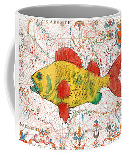 Coffee Mug featuring the painting Nautical Treasures-c by Jean Plout