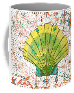 Coffee Mug featuring the painting Nautical Treasures-d by Jean Plout