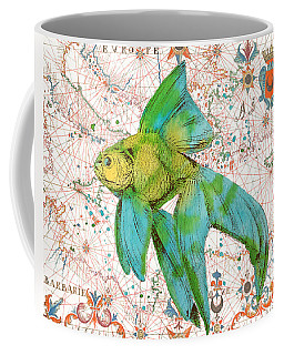 Coffee Mug featuring the painting Nautical Treasures-e by Jean Plout