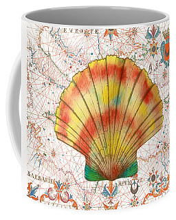 Coffee Mug featuring the painting Nautical Treasures-f by Jean Plout