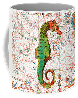 Coffee Mug featuring the painting Nautical Treasures-h by Jean Plout