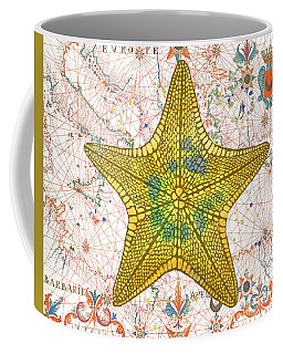 Coffee Mug featuring the painting Nautical Treasures-j by Jean Plout