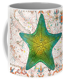 Coffee Mug featuring the painting Nautical Treasures-l by Jean Plout