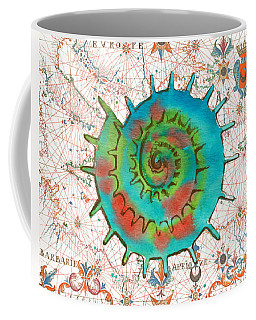 Coffee Mug featuring the painting Nautical Treasures-m by Jean Plout