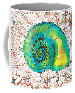Coffee Mug featuring the painting Nautical Treasures-n by Jean Plout