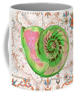 Coffee Mug featuring the painting Nautical Treasures-o by Jean Plout