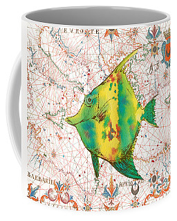 Coffee Mug featuring the painting Nautical Treasures-p by Jean Plout