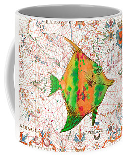 Coffee Mug featuring the painting Nautical Treasures-q by Jean Plout