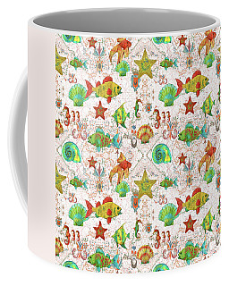 Coffee Mug featuring the painting Nautical Treasures-r by Jean Plout