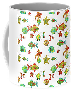 Coffee Mug featuring the painting Nautical Treasures-s by Jean Plout