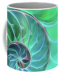 Nautilus Aqua Spiral Coffee Mug