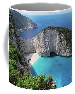 Navagio Beach Coffee Mug by Anastasy Yarmolovich
