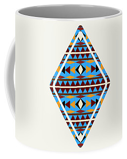 Navajo Blue Pattern Art Coffee Mug