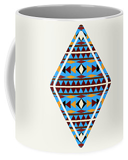 Navajo Blue Pattern Art Coffee Mug