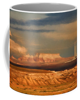 Coffee Mug featuring the photograph Navajo Generating Station by Lana Trussell