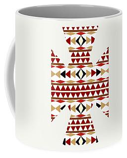 Navajo White Pattern Art Coffee Mug