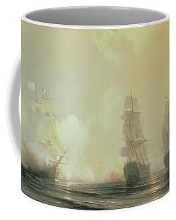 Naval Battle In Chesapeake Bay Coffee Mug
