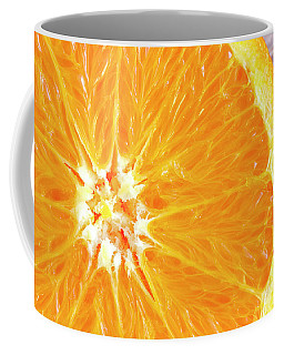Navel Orange Half Coffee Mug by Teri Virbickis