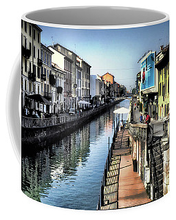 Coffee Mug featuring the photograph Naviglio Grande Canal by Jim Hill