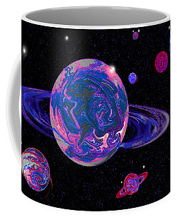 Navy Blue Rising In Space Coffee Mug by Samantha Thome