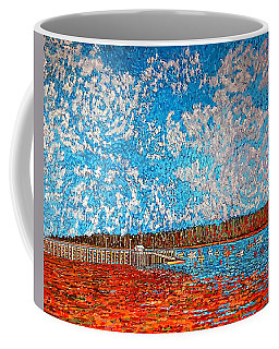 Navy Island And Market Wharf St. Andrews, Nb View From Water Street Coffee Mug
