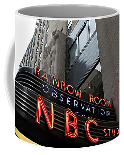 Nbc Studio Rainbow Room Sign Coffee Mug