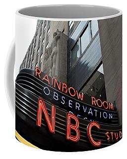 Nbc Studio Rainbow Room Sign Coffee Mug
