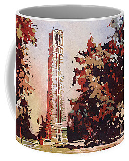 Coffee Mug featuring the painting Ncsu Bell-tower II by Ryan Fox