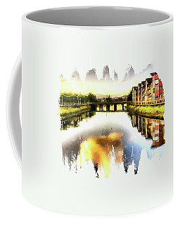 Coffee Mug featuring the photograph Necanium River Seaside by Thom Zehrfeld