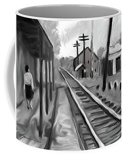 Needham Train Station 1959 Coffee Mug