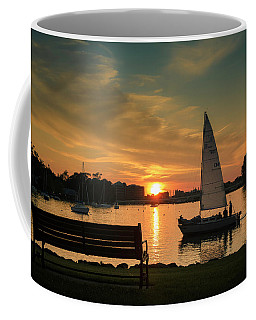 Coffee Mug featuring the photograph Neenah Harbor Sunset by Joel Witmeyer