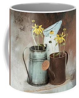 Coffee Mug featuring the mixed media Neighbors by Robin-Lee Vieira