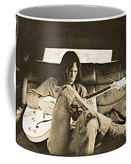 Neil Young In The Backseat Coffee Mug